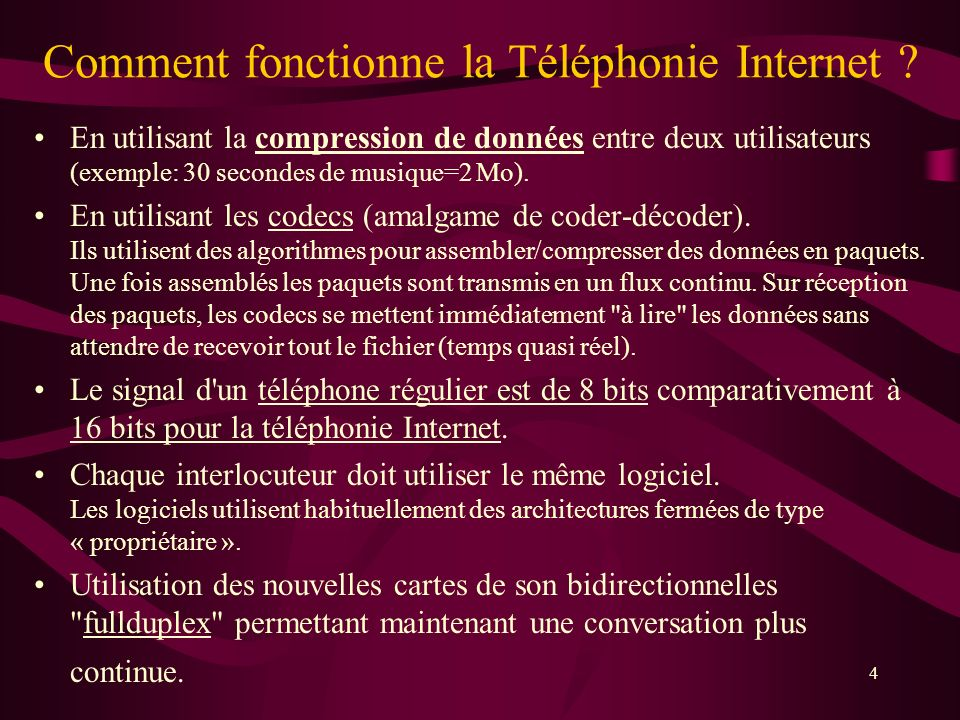 Comment fonctionne la Téléphonie Internet