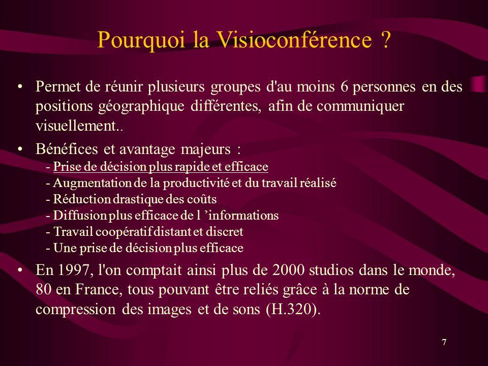 Pourquoi la Visioconférence