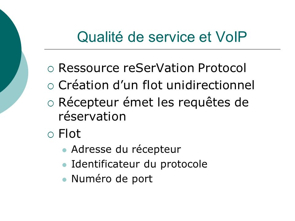 Qualité de service et VoIP