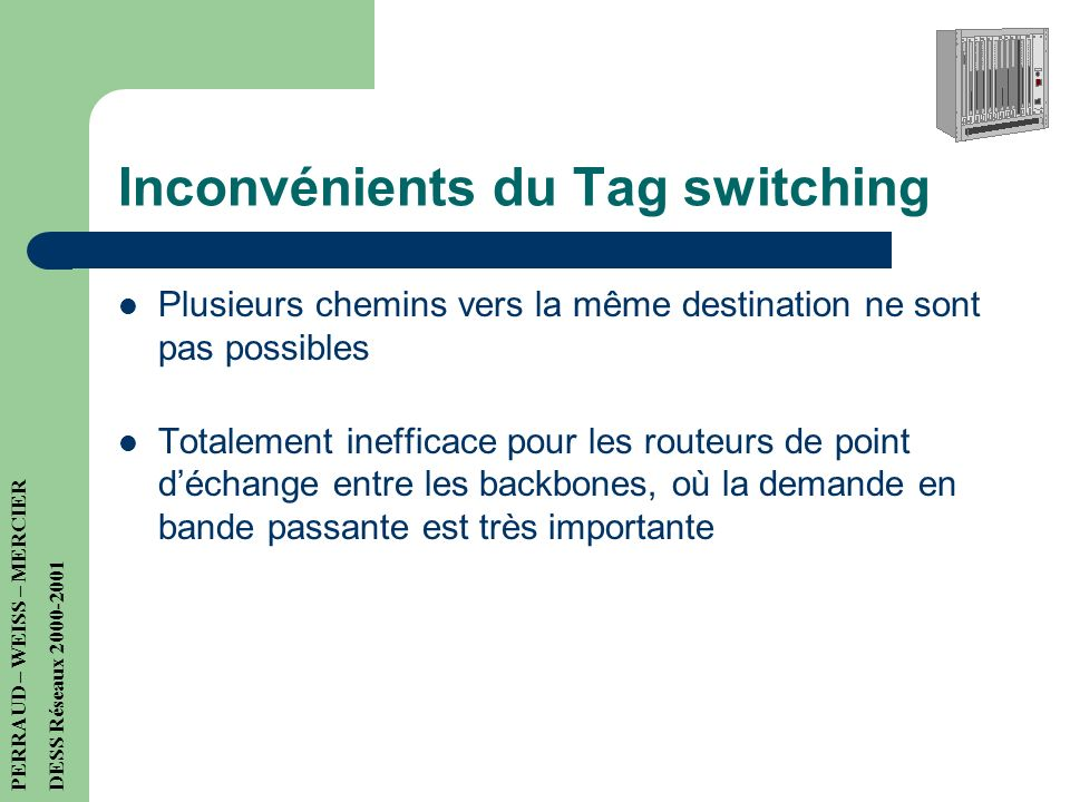 Inconvénients du Tag switching