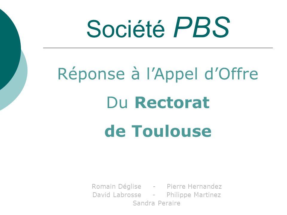Société PBS Réponse à l'Appel d'Offre Du Rectorat de Toulouse