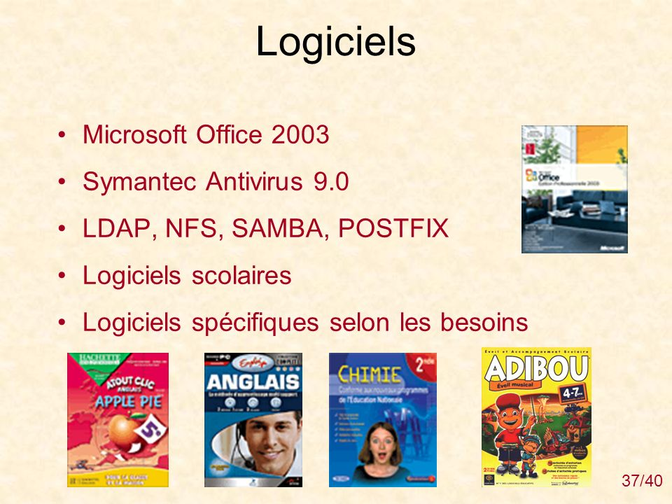 Logiciels Microsoft Office 2003 Symantec Antivirus 9.0