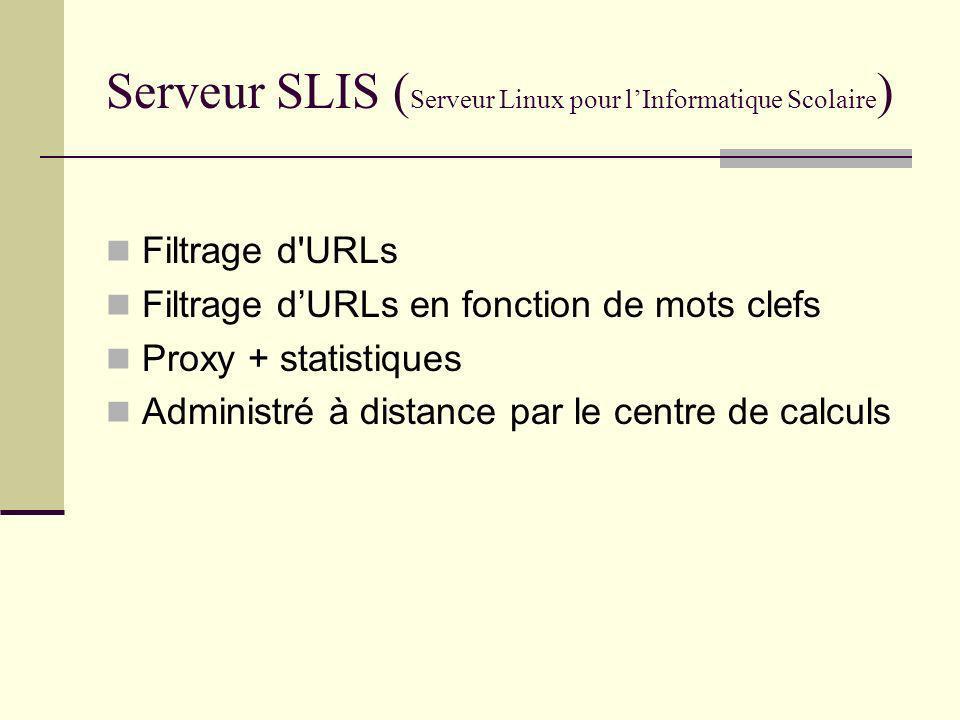 Serveur SLIS (Serveur Linux pour l'Informatique Scolaire)