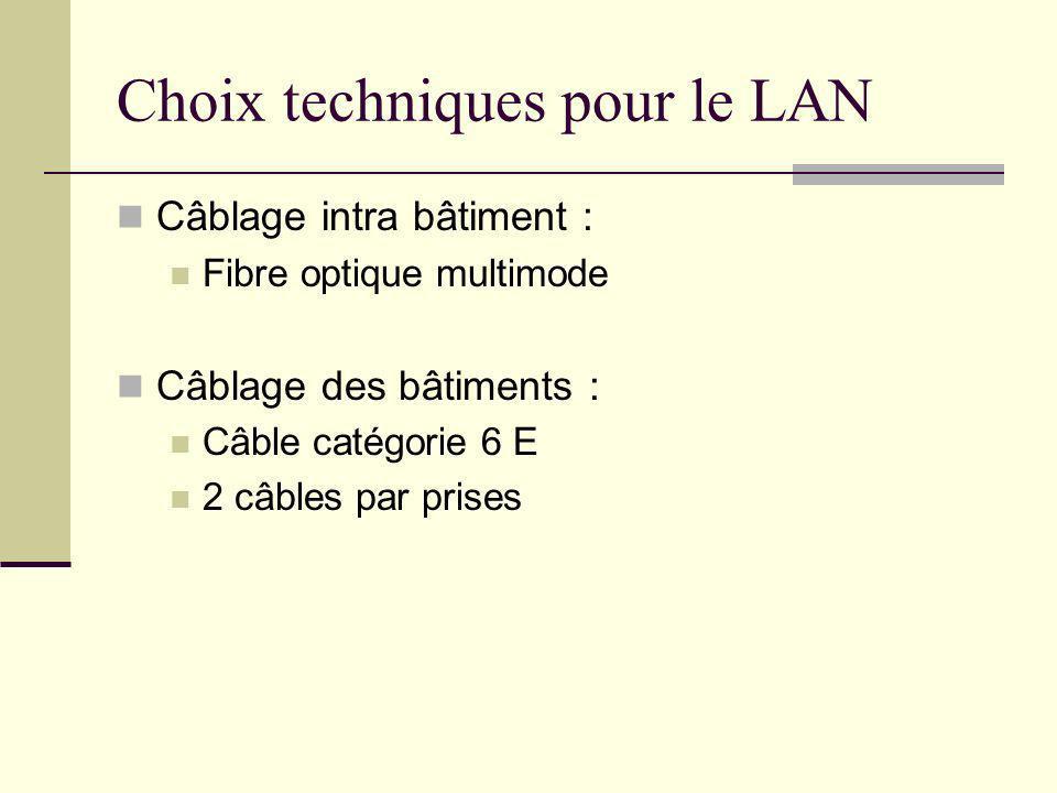 Choix techniques pour le LAN