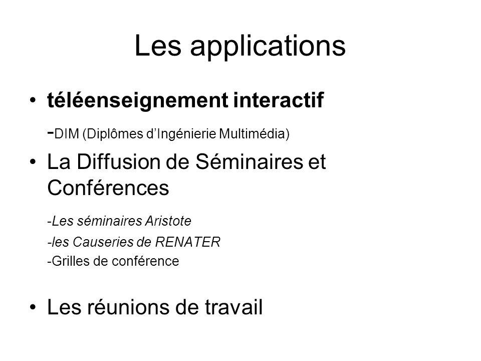 Les applications téléenseignement interactif