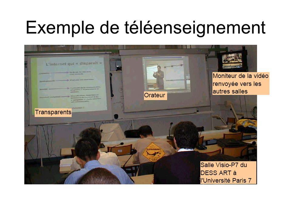 Exemple de téléenseignement