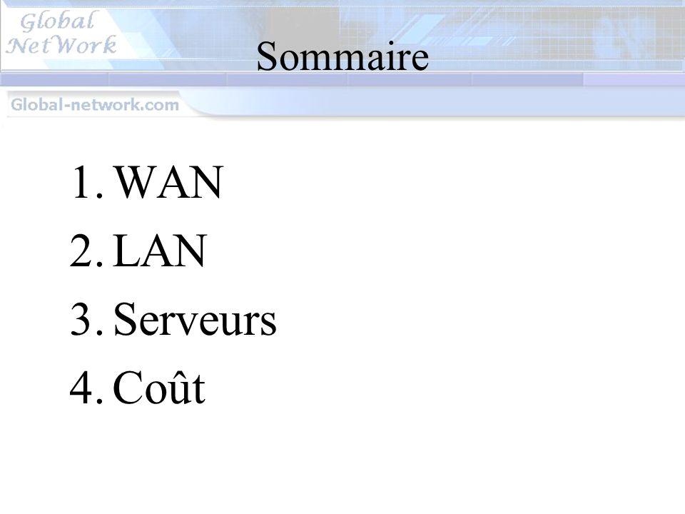 Sommaire WAN LAN Serveurs Coût