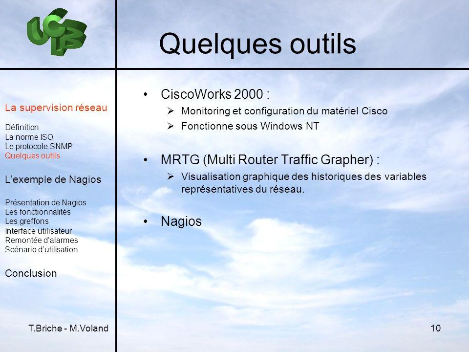Quelques outils CiscoWorks 2000 :