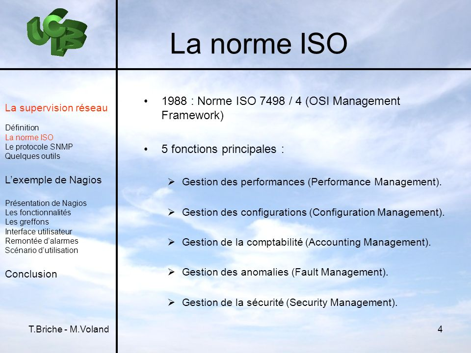 La norme ISO 1988 : Norme ISO 7498 / 4 (OSI Management Framework)