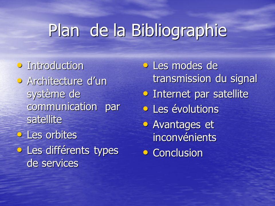 Plan de la Bibliographie
