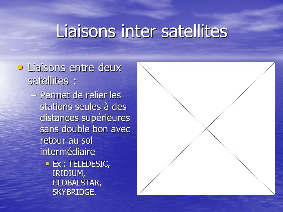 Liaisons inter satellites