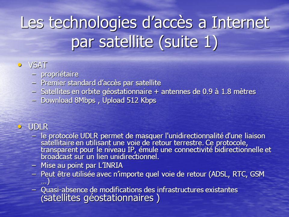 Les technologies d'accès a Internet par satellite (suite 1)