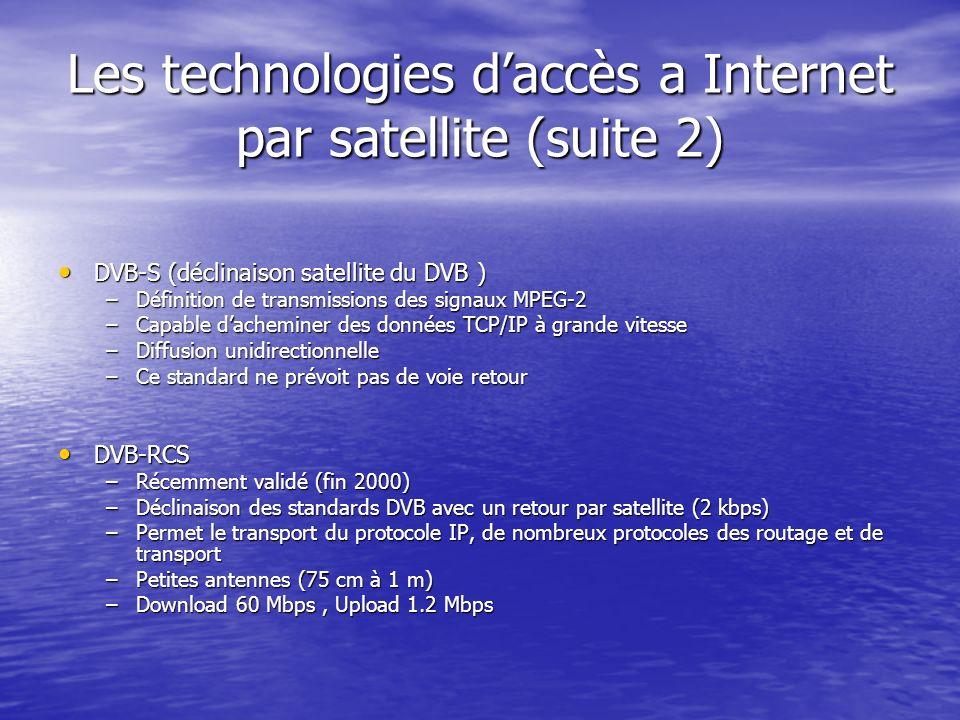 Les technologies d'accès a Internet par satellite (suite 2)