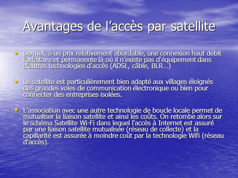 Avantages de l'accès par satellite