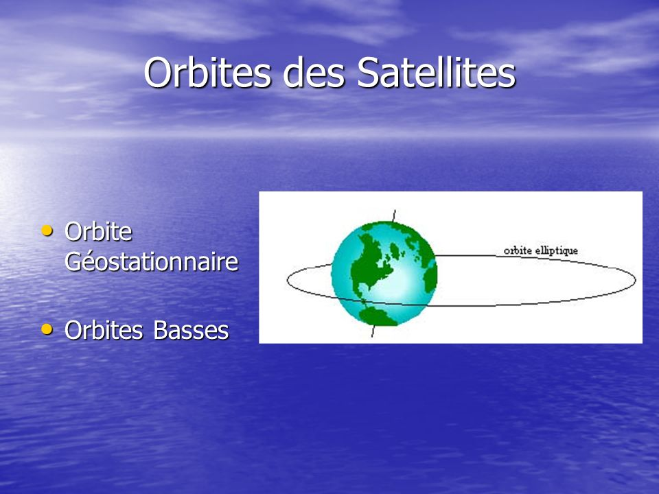 Orbites des Satellites