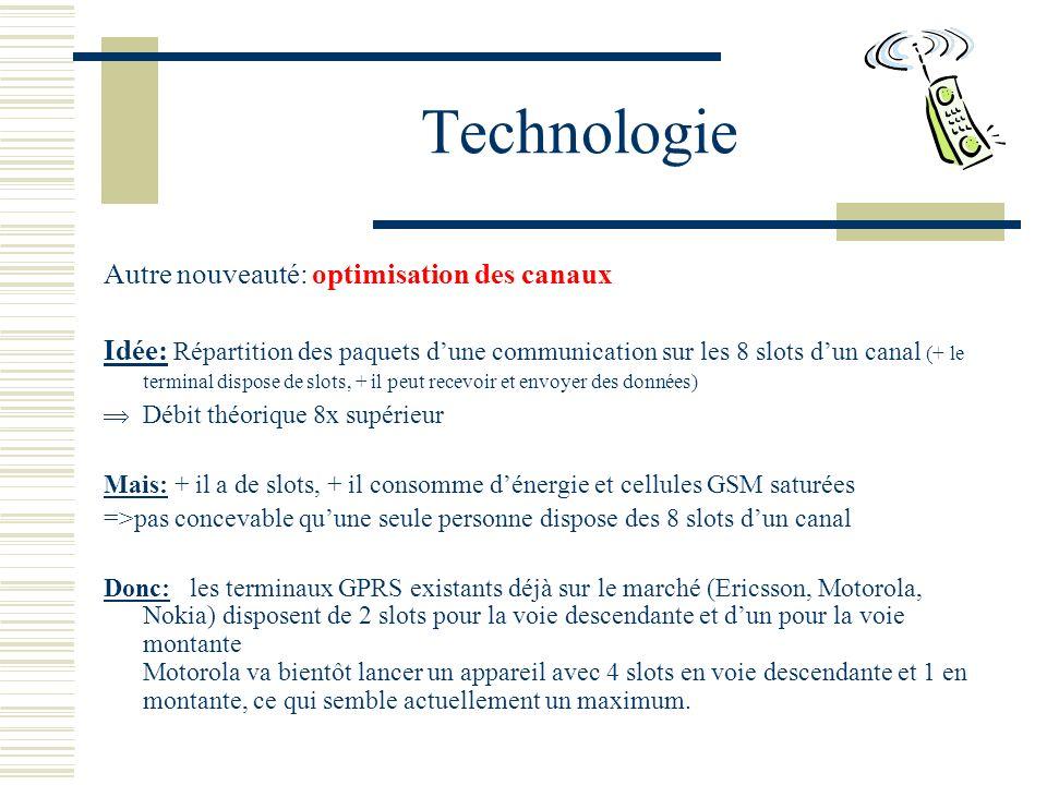 Technologie Autre nouveauté: optimisation des canaux