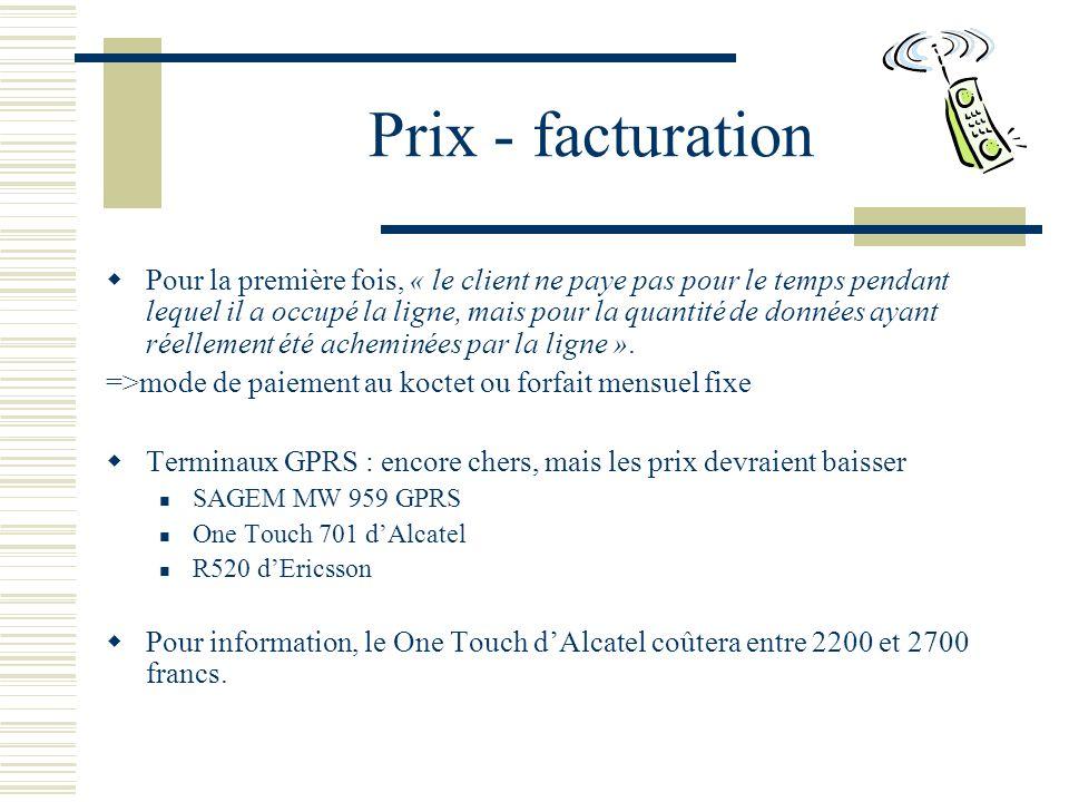 Prix - facturation