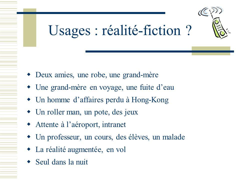 Usages : réalité-fiction