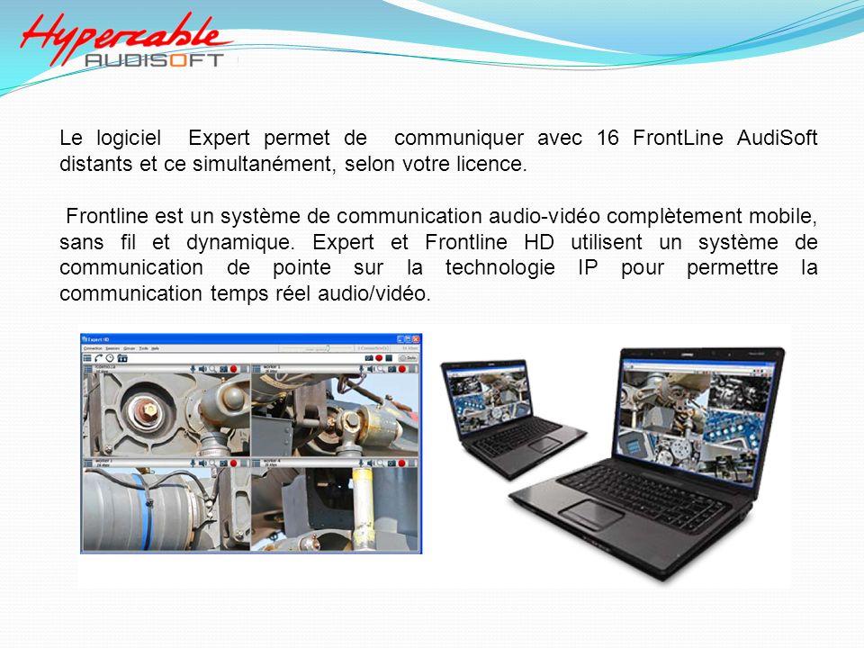 Le logiciel Expert permet de communiquer avec 16 FrontLine AudiSoft distants et ce simultanément, selon votre licence.