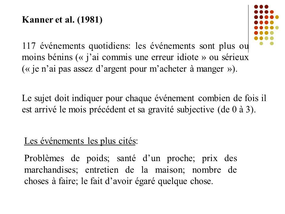 Kanner et al. (1981)