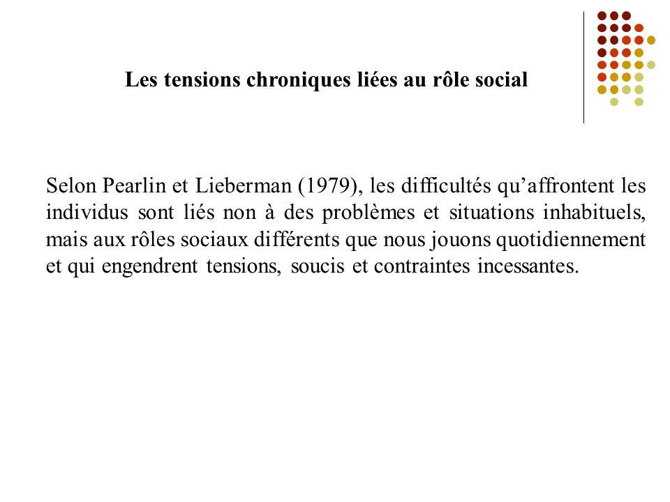 Les tensions chroniques liées au rôle social