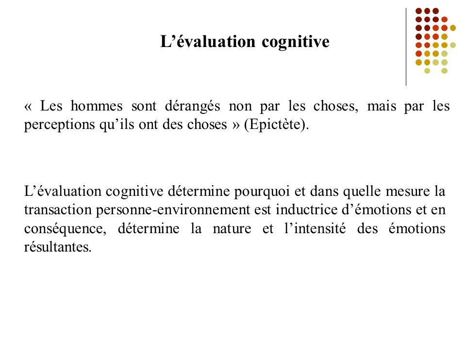 L'évaluation cognitive