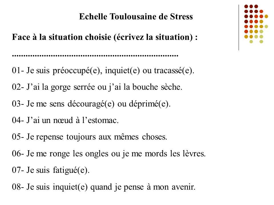 Echelle Toulousaine de Stress