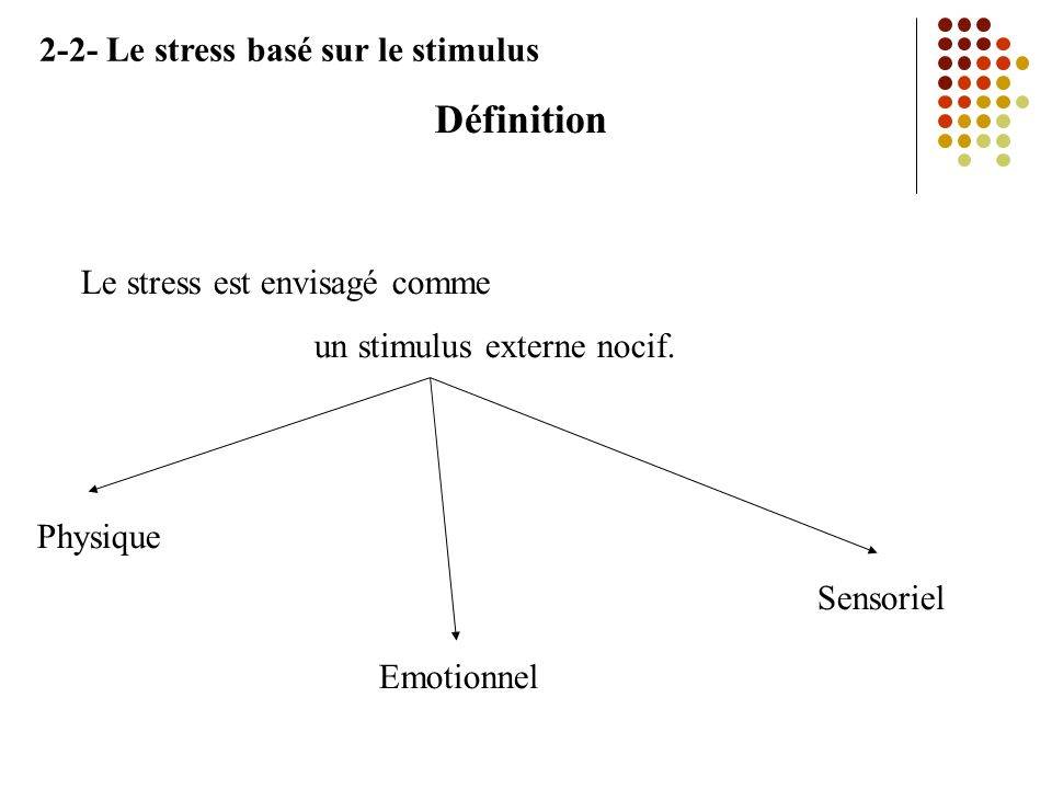 un stimulus externe nocif.