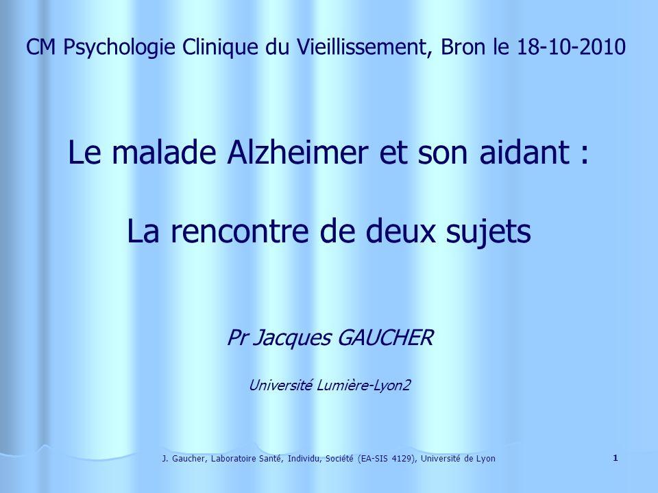 Le malade Alzheimer et son aidant : La rencontre de deux sujets