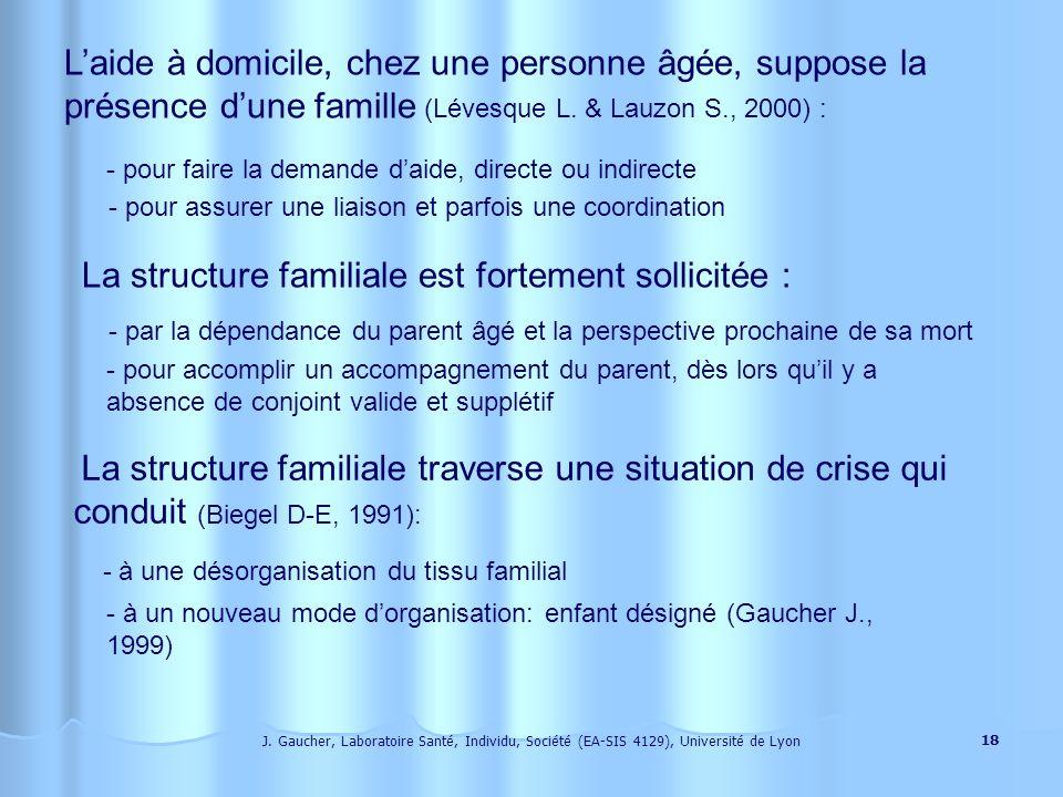 La structure familiale est fortement sollicitée :