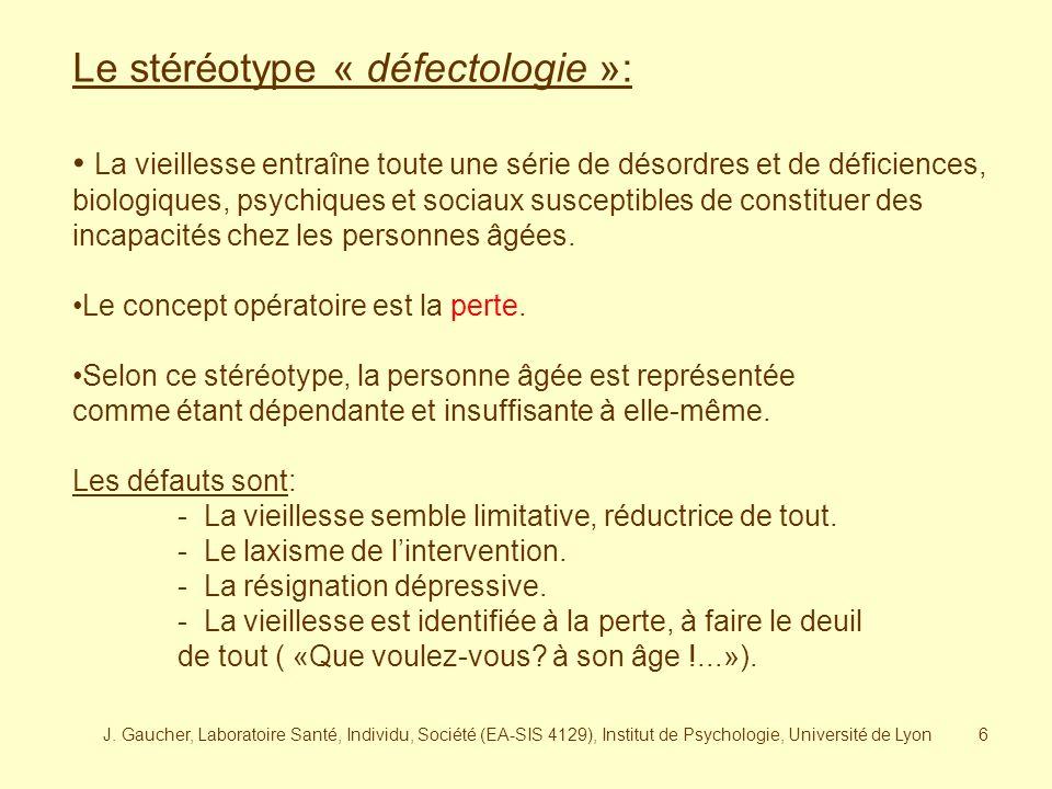 Le stéréotype « défectologie »: