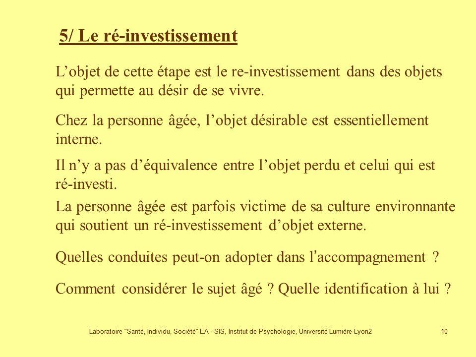 5/ Le ré-investissement
