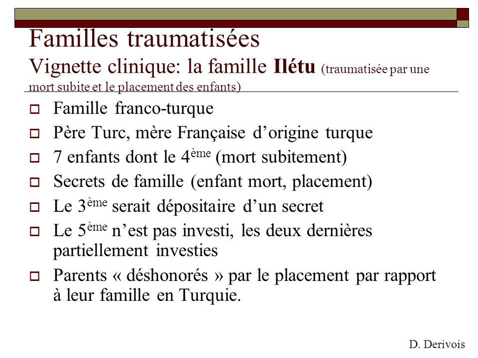 Familles traumatisées Vignette clinique: la famille Ilétu (traumatisée par une mort subite et le placement des enfants)