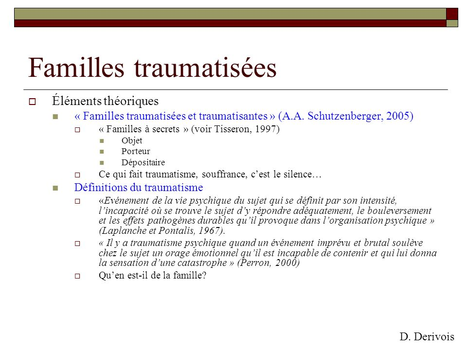 Familles traumatisées