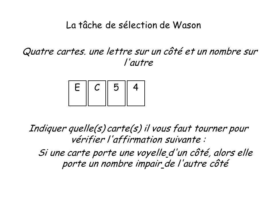 La tâche de sélection de Wason