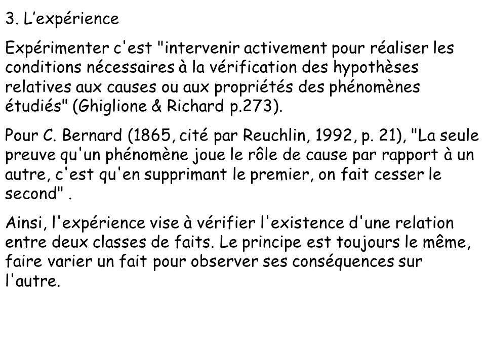3. L'expérience