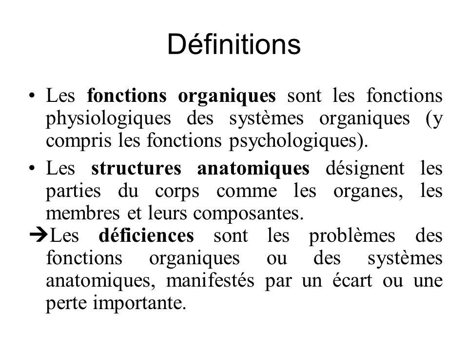 Définitions Les fonctions organiques sont les fonctions physiologiques des systèmes organiques (y compris les fonctions psychologiques).