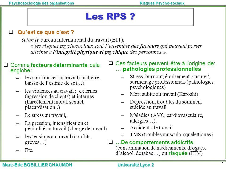 Les RPS Qu'est ce que c'est