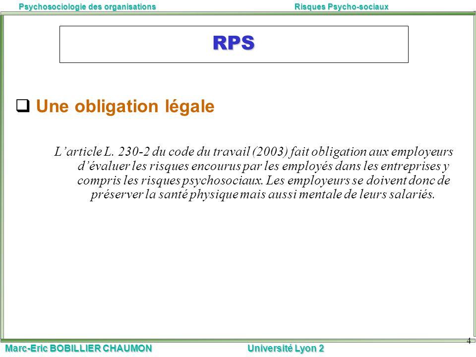 RPS Une obligation légale