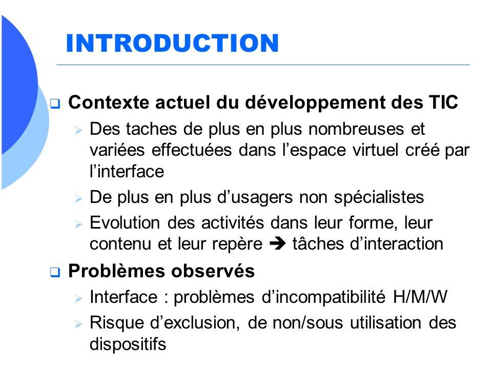 INTRODUCTION Contexte actuel du développement des TIC
