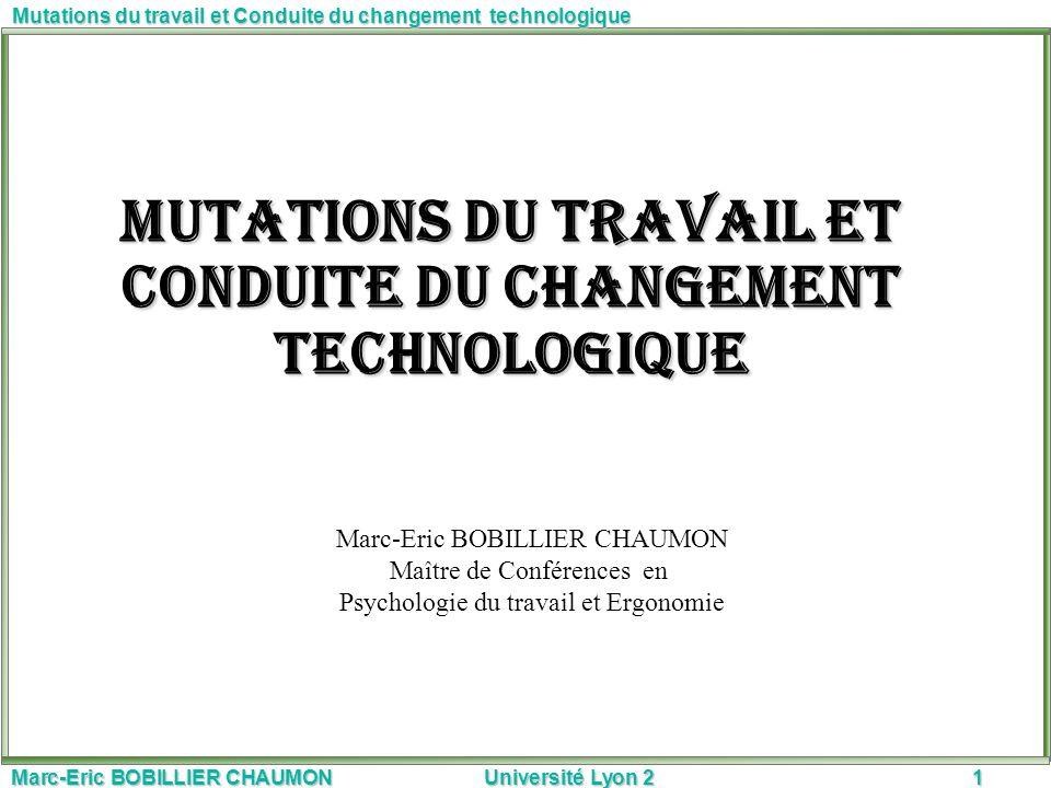 Mutations du travail et Conduite du changement technologique