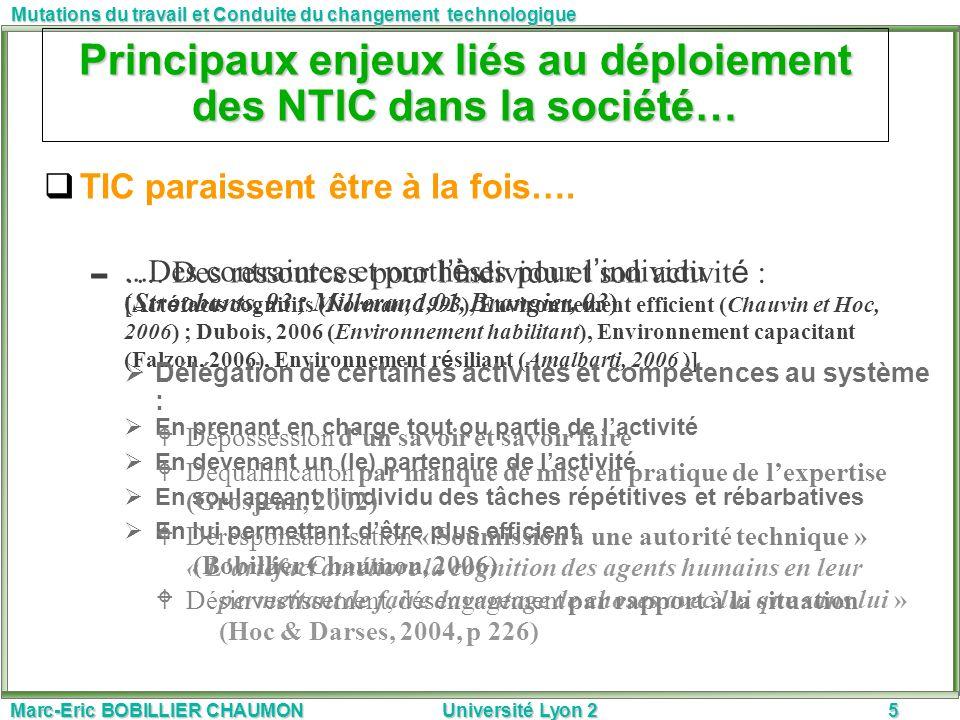 Principaux enjeux liés au déploiement des NTIC dans la société…