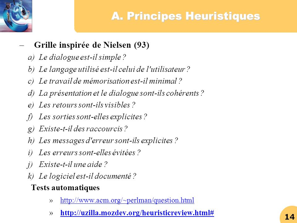 A. Principes Heuristiques