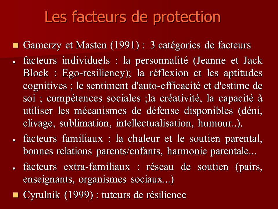 Les facteurs de protection
