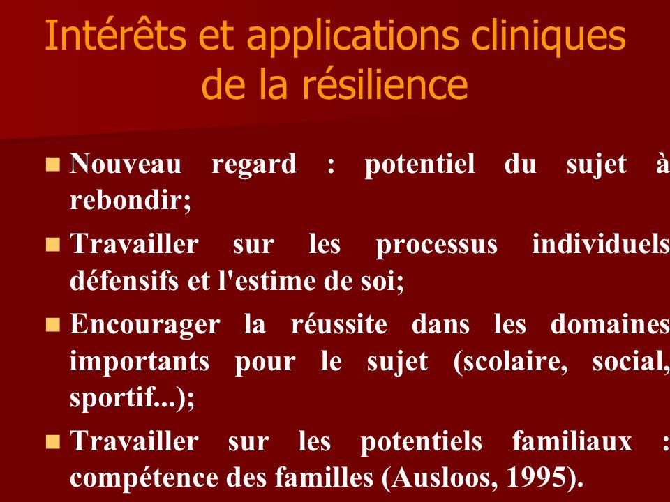 Intérêts et applications cliniques de la résilience