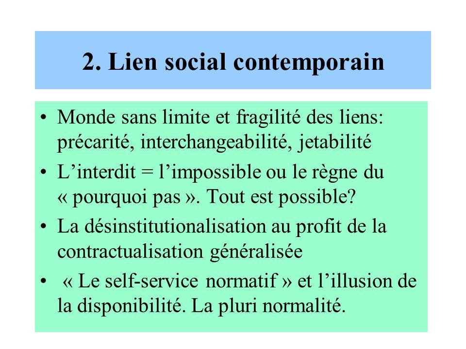 2. Lien social contemporain