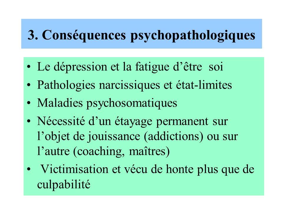 3. Conséquences psychopathologiques