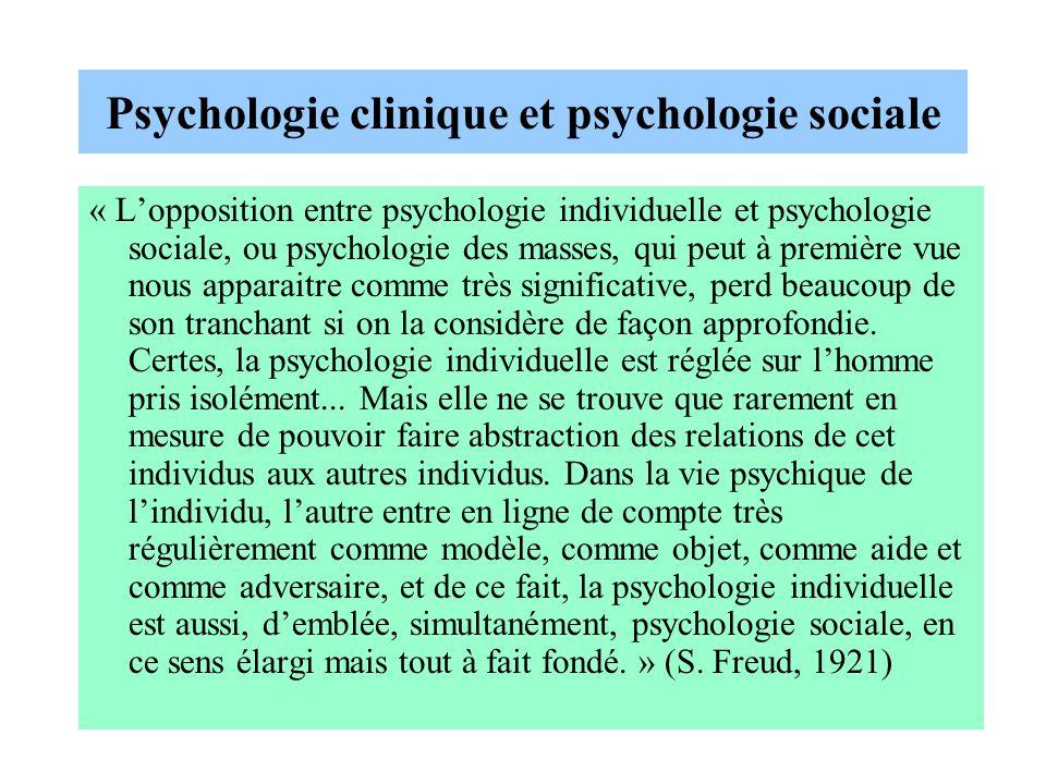 Psychologie clinique et psychologie sociale