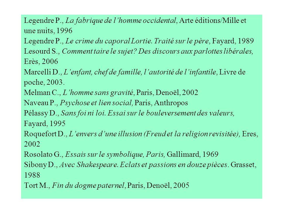 Legendre P., La fabrique de l'homme occidental, Arte éditions/Mille et