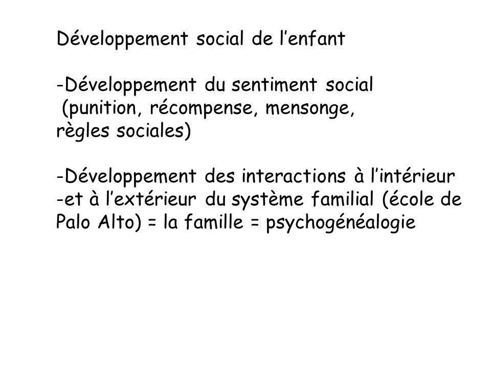 Développement social de l'enfant